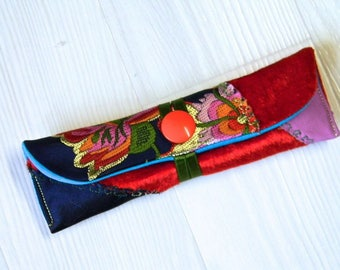 115 - case for two/three pens, mini kit, multicolor/gold