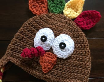 Crocheted Turkey Hat