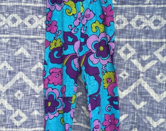 Vintage 70s Flower Power Pants