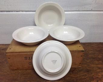 Vintage Buffalo China Soup Cereal Bowls Set of 4