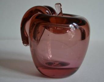 Art Glass Handblown Apple Paperweight
