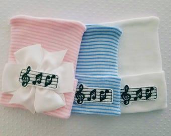 Music Newborn Hat-baby boy beanie-newborn girl beanie-infant beanie-music beanie