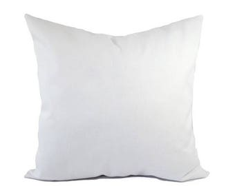 Nice 15% OFF SALE Two Solid White Pillow Covers   White Throw Pillows   White  Couch