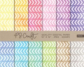 15% OFF Chevron Watercolor Digital Papers, Zigzags Abstract Geometric Wallpaper,  Modern Geometric Pattern