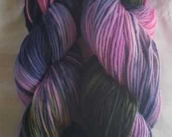 Hand Dyed Superwash Merino Yarn - Summer Storm in A Flower Garden
