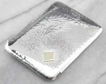 Vintage Sterling Silver Cigarette Case, Hand Rolled Cigarette Case, X8LAVX-N