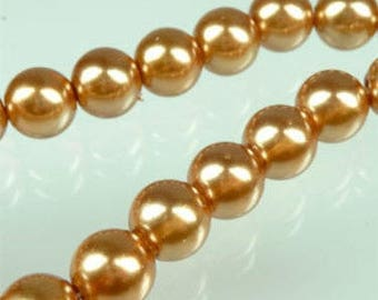 10 pearl beads 8mm Topaz beads
