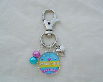 Bag charm best godmother in the world