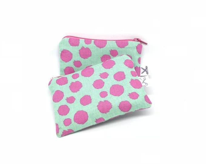 Mini zipper pouch Fur Ball mint/pink