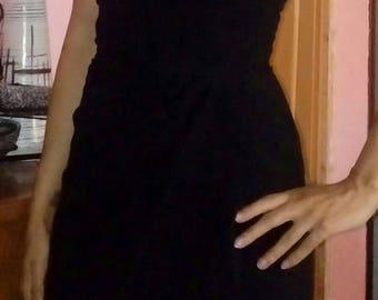 50s one shoulder dress