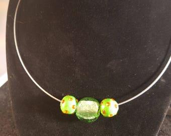 Simple Italian glass bead necklace