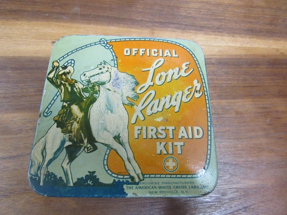 Lone Ranger tin first aid container