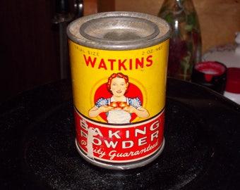 c-vintage watkins baking powder tin