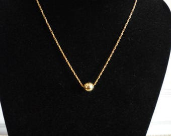 Never Worn Old Stock Vintage GF Gold Ball Bead Necklace