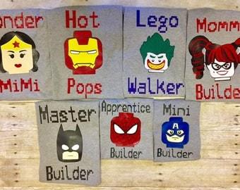 Lego inspired shirts