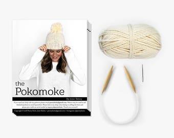 Knitting Kit, DIY KIT, Knit Hat Kit, Choose Your Color