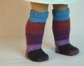 "Socks made to Fit American Girl Doll, Hand Knit Doll Socks, 18"" Doll Clothes, Doll Socks, American Doll Socks, Gift for Girl"
