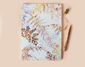 A4 snowflake ferns  notebook with lined pages