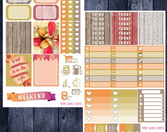 Floral Fall Kit for Erin Condren Life Planner Vertical Layout