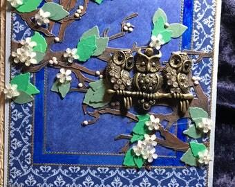 Boho owl   journal