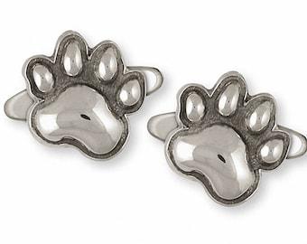 Dog Paw Cufflinks Jewelry Sterling Silver Handmade Dog Cufflinks PW19-CL