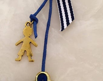Blue and gold nautical martyrika