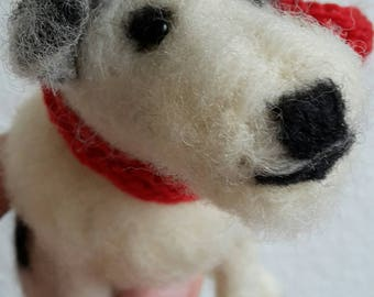 Terrier, felted dog, felted animal, felted sculpture, needle felted, doglove, felted, pet