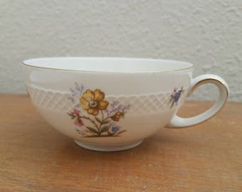 Vintage Echenbach Roswitha Floral Patterned Teacup