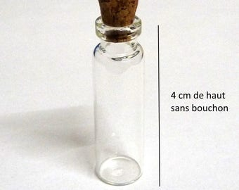 For creating 4 cm X 1.2 cm glass jar and bottle Cork jewelry pendants for miniature inclusion