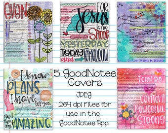 Digital Planner or Journal Covers for iPad GoodNotes - Set 3