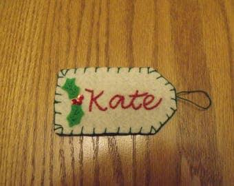 Personalization on a stocking