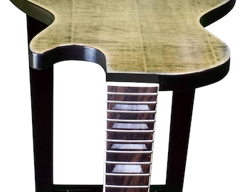 Guitar End Table - Fiddleback Maple