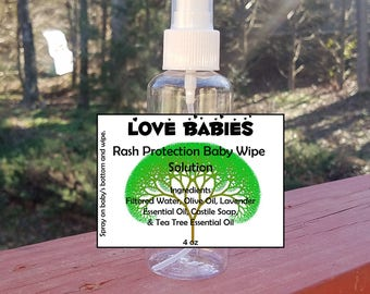 4 oz Rash Protection Baby Wipe Solution by Love Babies