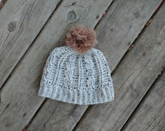 Tweed Cable Hat