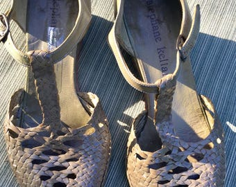 Stephane Kelian green leather  sandals