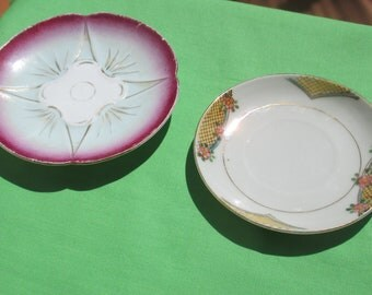 Vintage  China Tea Cup Saucers One Marked Japan