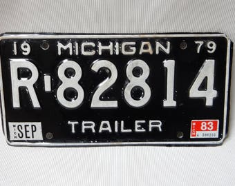 1979 Michigan Trailer License  Plate