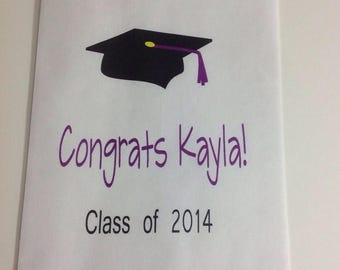 ON SALE Personalized Graduation Candy Buffet Bags