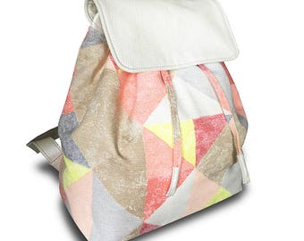 "Gentle and roomy backpack ""Sand"". Handmade, ecoleather!"