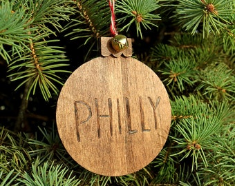 Philly Hand-Made Wood Ornament