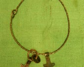 amulet neck ring from Vasby, sweden 2 thor's hammers and two odin's rings