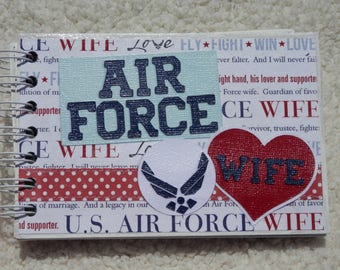 4x6 US Air Force Wife Chipboard Mini Scrapbook