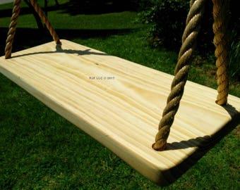 Wood Tree Swing- Appalachian 4 Hole
