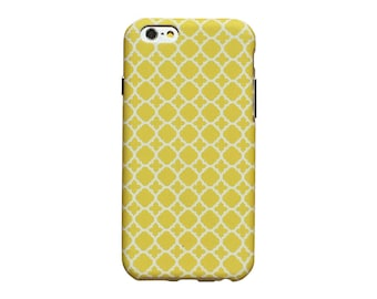 Yellow and white design, phone case for an iPhone 6 or iPhone 6 Plus