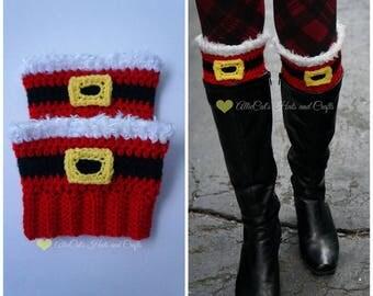 Santa Mitts and Boot Cuffs