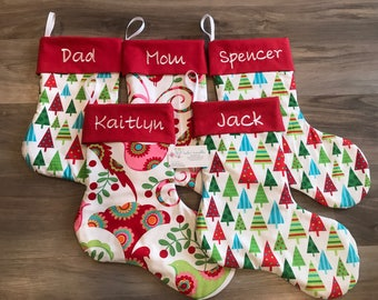 Christmas Stocking, (single), handmade, personalized, Canada, design your own!