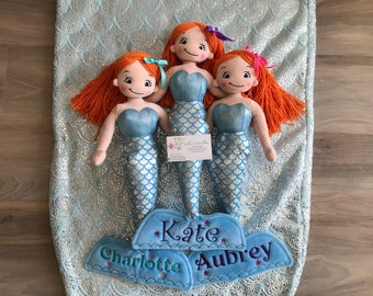 New!  Cubbies Personalized Mermaid Rag Doll Canada