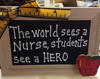 Teacher Gift  2721DC The world sees a Nurse, students see a HERO  Supply Box