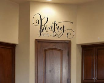 CLEARANCE SALE Kitchen Decor- Pantry Decal Pantry Sign Pantry Wall Decal Pantry Label Wall Decal Vinyl Wall Decal Family Wall Decal Kitchen