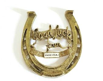 Vintage Brass Lucky Horseshoe | Luck be my lady tonight